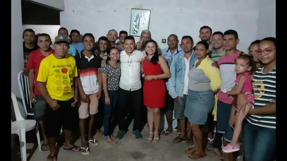 Edna Resende em Boa Hora recebe apoio do ex-presidente da Câmara Zé Mota